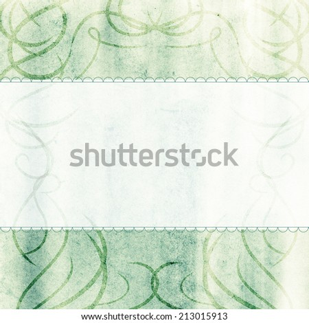 Abstract painted light green hand drawn texture with place for your text.