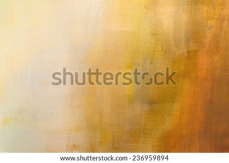 abstract painted orange background - stock photo