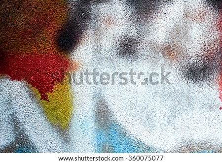 Abstract Painted Wall (red + yellow + blue)