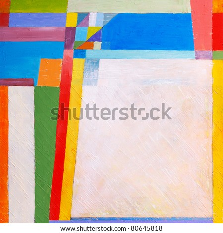 Abstract painting by Clive Watts - Study for the 'Rangle' series of  paintings - stock photo
