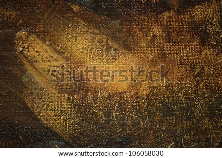 abstract painting by oil on a canvas,  illustration - stock photo