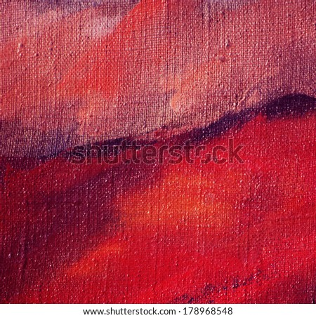 abstract painting by oil on canvas, background - stock photo