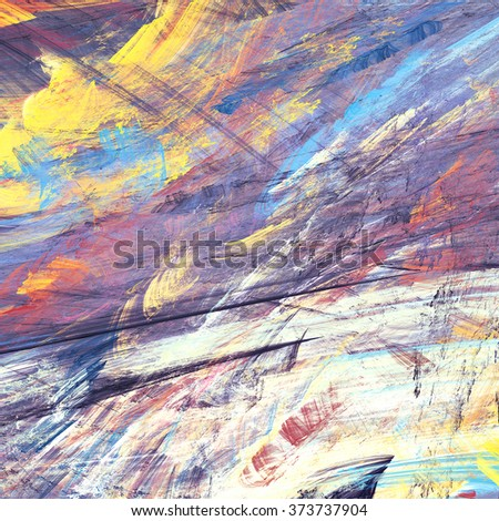 Abstract painting color texture. Bright artistic background. Modern multicolor dynamic pattern. Fractal artwork for creative graphic design - stock photo