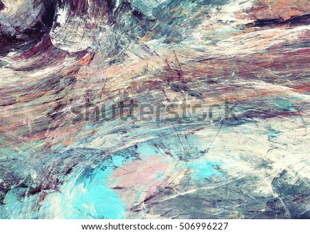 Abstract painting color texture. Bright artistic background. Multicolor dynamic pattern. Fractal artwork for creative graphic design