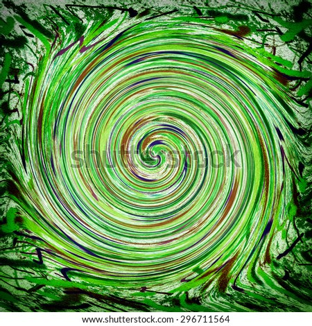 Abstract painting colorful spiral - stock photo