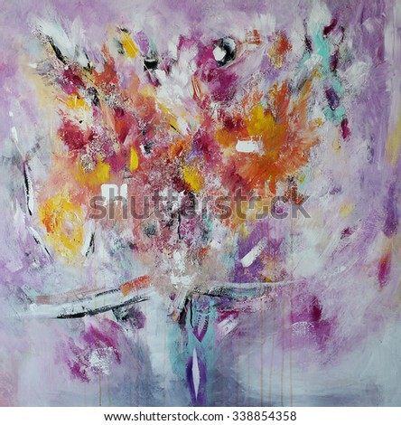 Abstract painting, exclusive style - stock photo