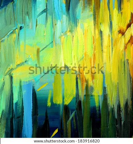 abstract painting for an interior, illustration - stock photo