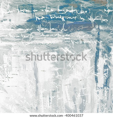 abstract painting for interior on a grey background with imitation text, illustration