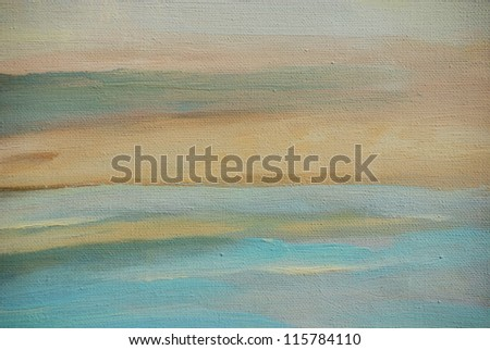 abstract painting in light beige tones, illustration,background - stock photo