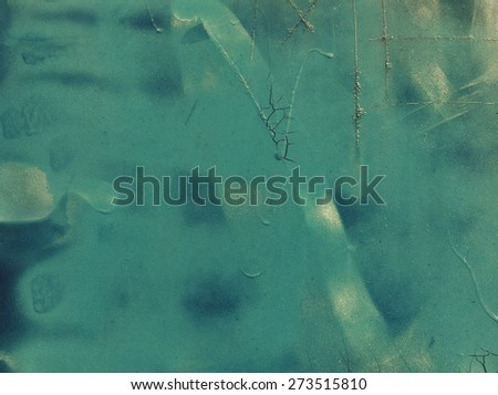 Abstract painting on grunge metal surface - stock photo