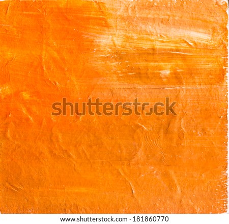 Abstract painting on grunge texture - stock photo