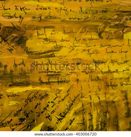 abstract painting patern wallpaper with  imitation of  handwritten ancient text, illustration