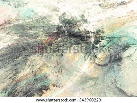 Abstract painting soft color texture. Bright artistic background. Multicolor dynamic pattern. Fractal artwork for creative graphic design - stock photo