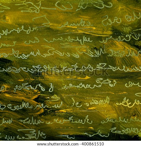 abstract painting with  imitation of thandwritten ancient text, illustration