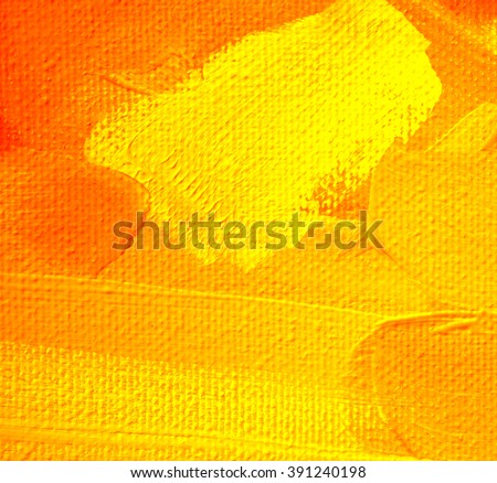 abstract painting with orange spots, illustration - stock photo