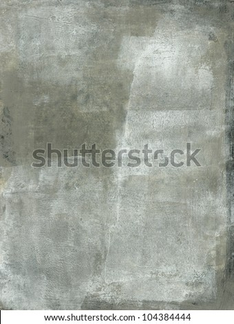 Abstract painting with subtle gray and white tones. - stock photo