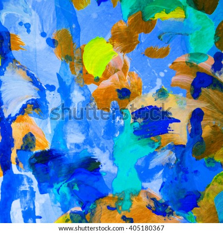 abstract painting with wet colors, pattern, wallpaper