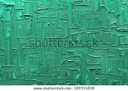 Abstract paintings of green colors embossed decoration - stock photo