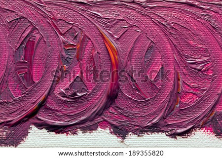 Abstract paintings of red-purple colors embossed decoration - stock photo