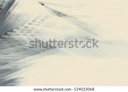 Abstract palm tree in motion against sunlight. Dynamic nature pattern, blurred beige monochrome leaves moving in wind, for vintage concept business blog, nature t-shirt design shop ambient music cover