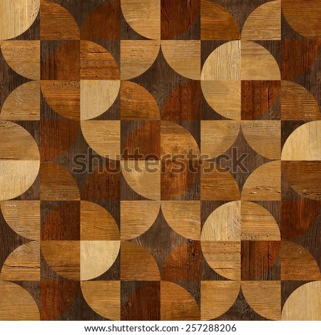 Abstract paneling pattern   Interior wall decor   decorative tiles    geometric style   seamless background. Abstract Paneling Pattern Interior Wall Decor Stock Illustration