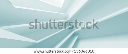 Abstract Panoramic Architecture Design - stock photo