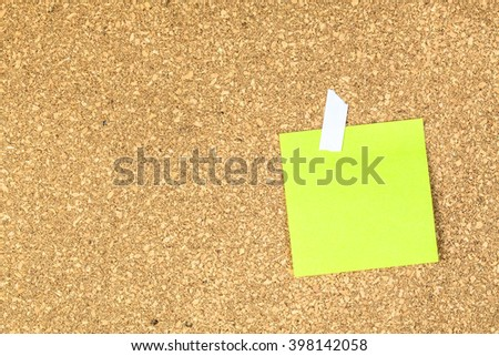 abstract paper note pin on cork board. cork board with blank notes. sticker note - stock photo