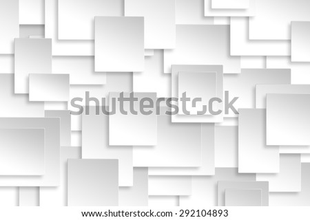 Abstract paper rectangle design silver background texture.