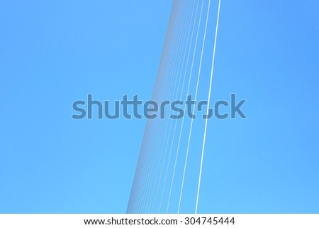 Abstract part of the bridge and sky background