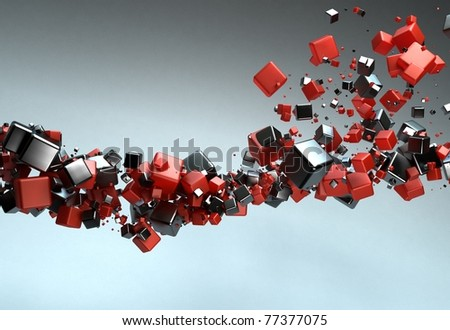 Abstract Particles - stock photo