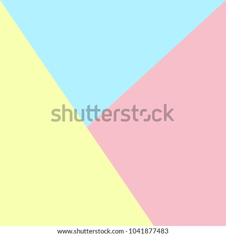Abstract Pastel Color Paper Background Flat Design Creative Colorful Pink Blue Yellow Surface Backdrop