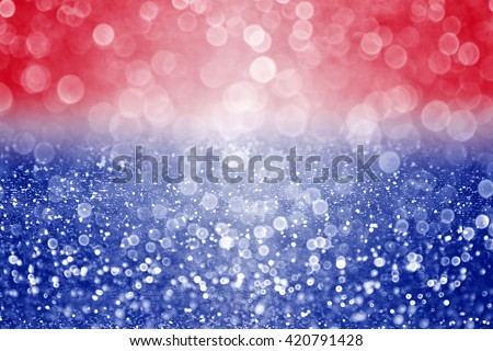Abstract patriotic red white and blue glitter sparkle background - stock photo