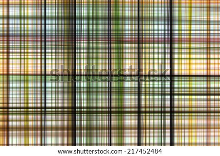 Abstract pattern background of tracery plaid.