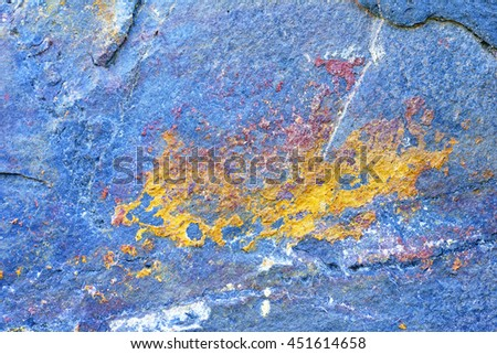 Abstract pattern   blue yellow stone texture background. - stock photo