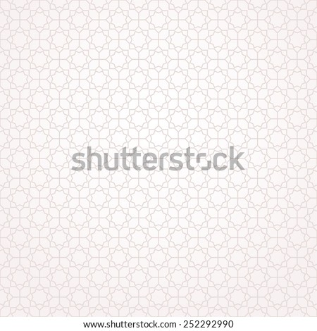 Abstract pattern in Arabian style. Seamless background. Beige and white texture. - stock photo