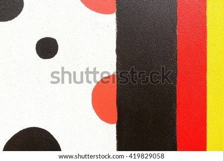 Abstract pattern new colored concrete wall in park at Hat Yai Songkhla Thailand:Close up,select focus with shallow depth of field:ideal use for background - stock photo