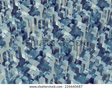 Abstract pattern of big cities, megalopolis