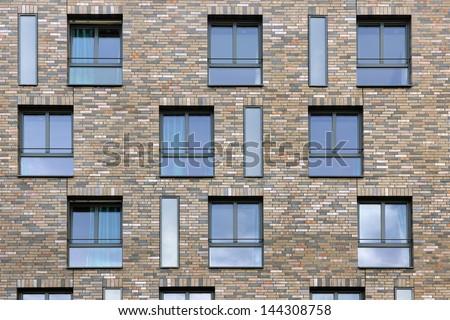 Window facade  Abstract Pattern Building Facade Bricks Windows Stock Photo ...