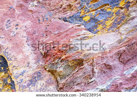 Abstract pattern of Colorful granite stone:Close up select focus with shallow depth of field:ideal use for background. - stock photo