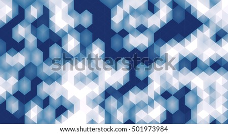 Abstract pattern of geometric shapes background