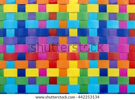 Abstract pattern of square color weave