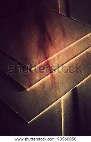abstract pattern of white card