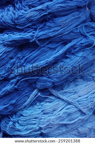 Abstract pattern smoke of yarn, Color threads bunch isolated on black background, Colorful yarns - stock photo