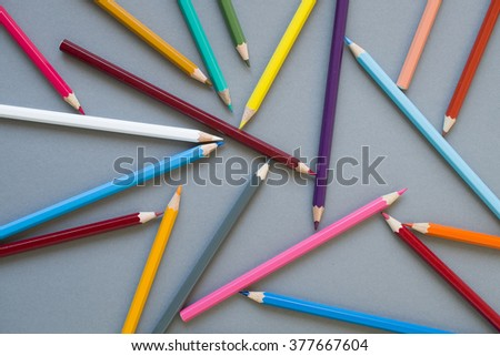abstract pencils - stock photo