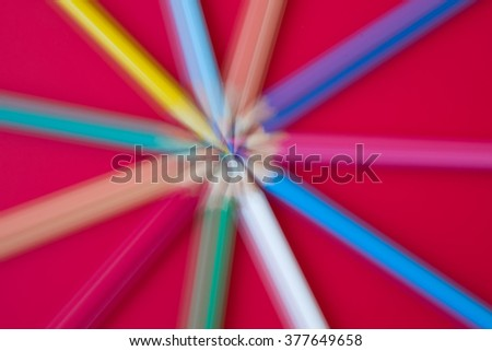 Abstract Pencils Background - stock photo