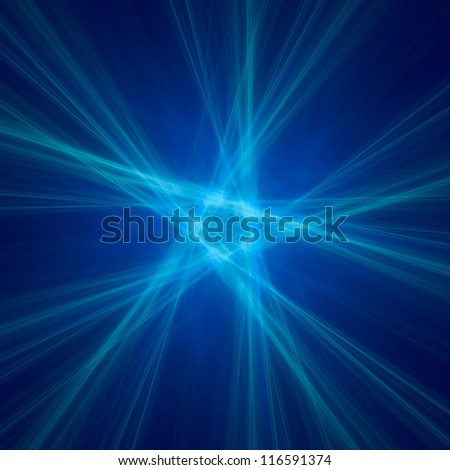 abstract pentagon background on black - stock photo