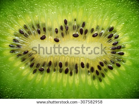 Abstract photo of a kiwi - stock photo