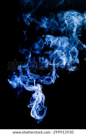 abstract photo of blue Smoke.
