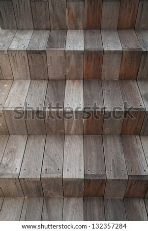 Abstract photo of wooden stairs