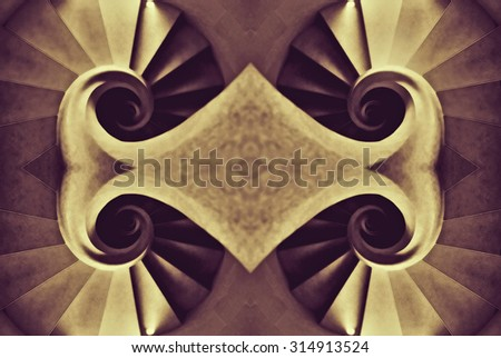 Abstract picture with scroll patterns - stock photo
